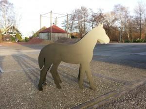 Paard plaatstaal